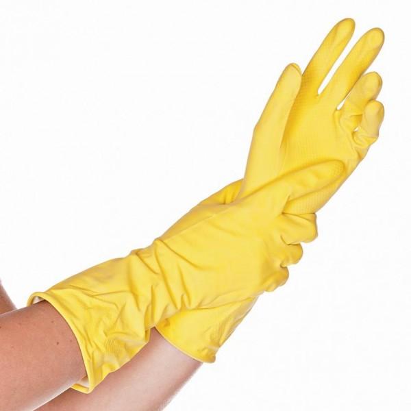 HYGOSTAR® Latex Haushaltshandschuhe gelb