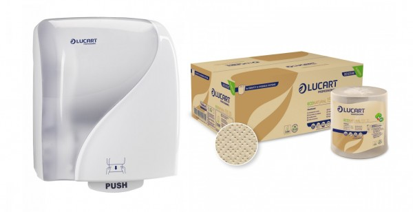 ECO NATURAL fiberpack® Starter Kit Handtuchrolle weiß