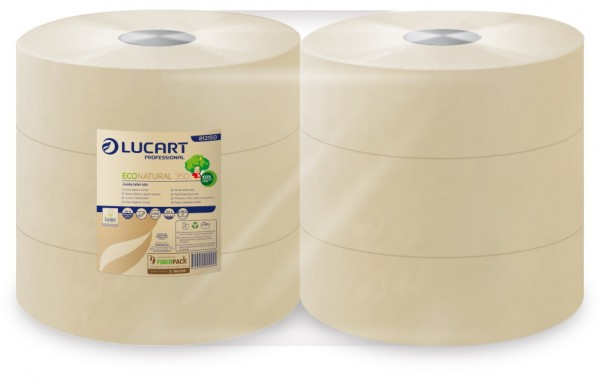 LUCART EcoNatural 350 Jumbo Toilettenpapier-Rollen