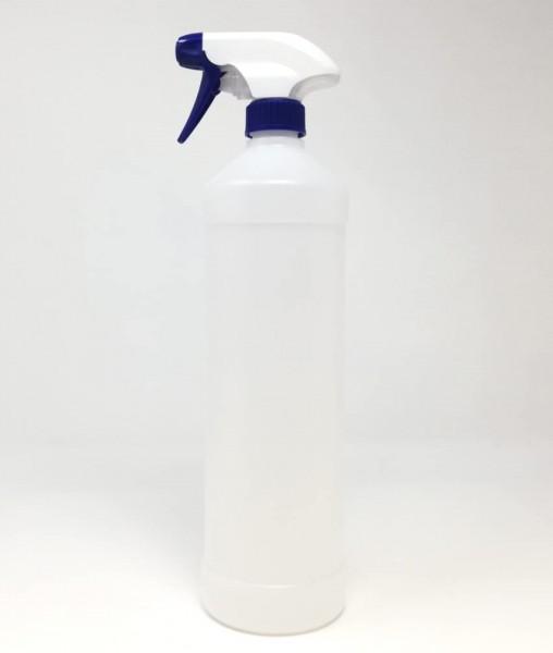 Mehrweg Sprühflasche mit Sprühkopf 1L transparent