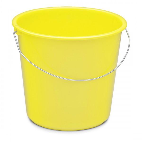 Nölle Haushaltseimer, gelb, 10 Liter, Kunststoff