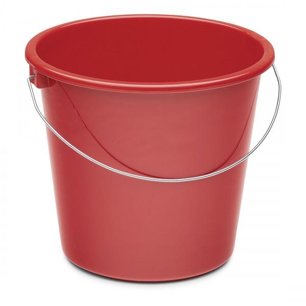 Haushaltseimer, rot, 10 Liter, Kunststoff