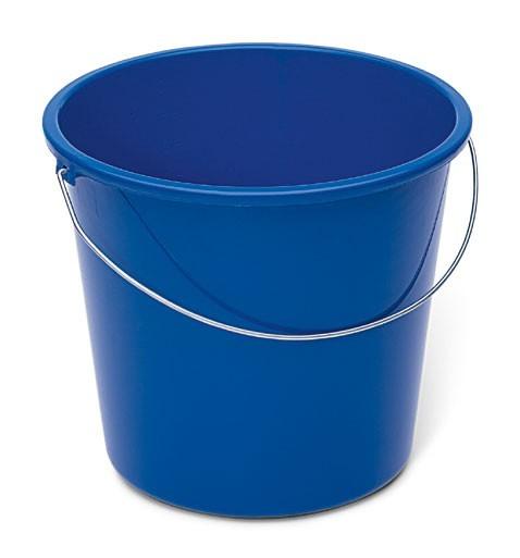 Haushaltseimer, blau, 10 Liter, Kunststoff