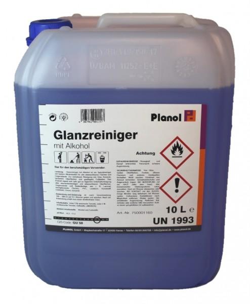 ABVERKAUFSAKTION PLANOL Glanzreiniger mit Alkohol 10L Kanister