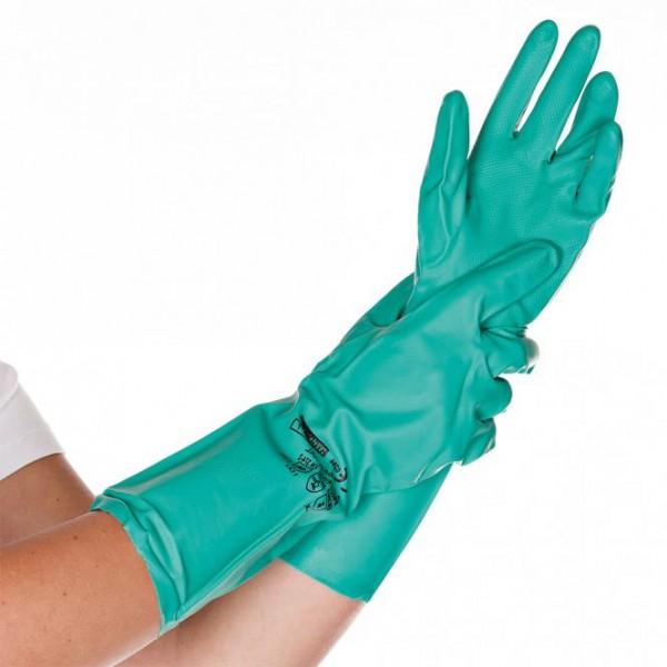 Hygostar® Nitril-Mehrweghandschuhe / Chemikalienschutzhandschuhe grün