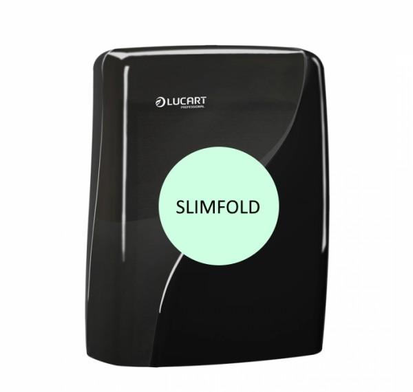 LUCART Identity Slimfold Interfold-Handtuchrspender schwarz
