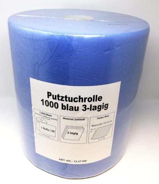 IC Putztuchrolle 1000 hellblau 3-lagig