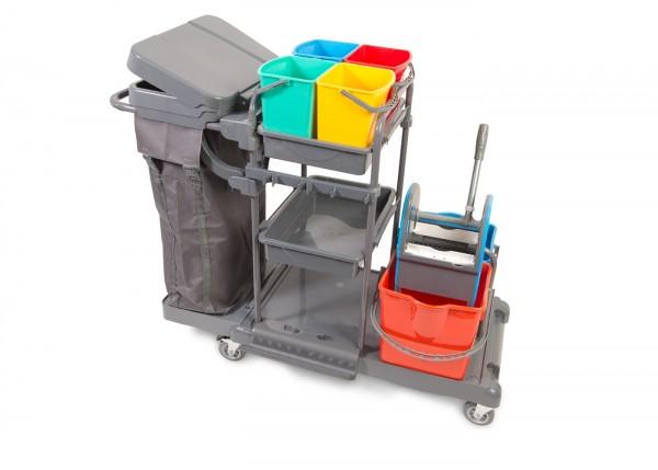 WetLine Clean Reinigungswagen 1724 P mit Eimern und Presse