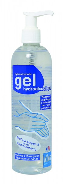 KING® Hydroalkoholisches Händedesinfektion Gel 400ml Pumpflasche