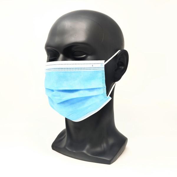 Einwegmaske 3-lagig blau (im 50er Pack)