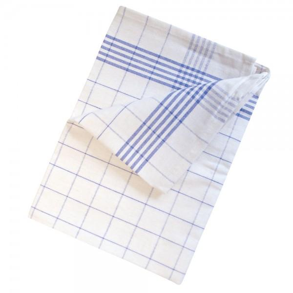 Meiko Geschirrtuch Halbleinen weiß-blau 10er Pack