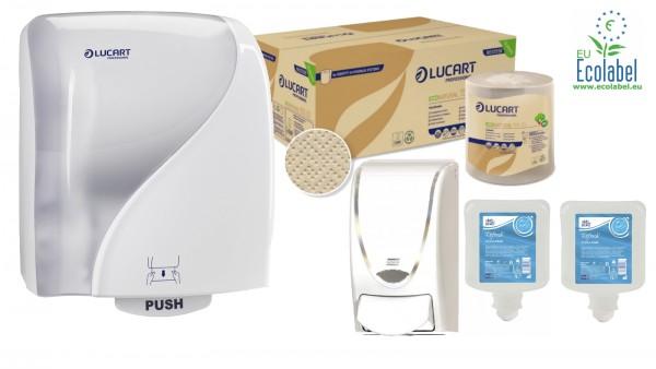 ECO NATURAL fiberpack® Waschraum Kit weiß