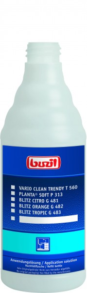 Buzil Leerflasche Anwenderlösung Oberfläche 600 ml (H309)