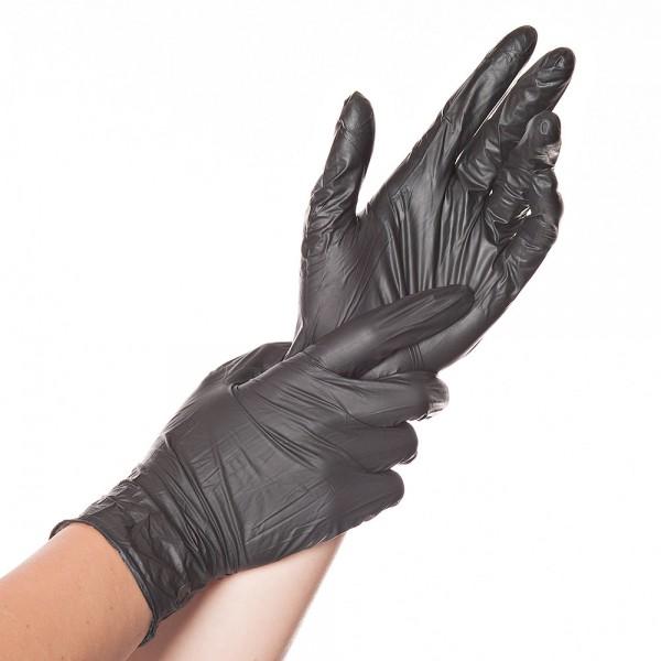 HYGOSTAR SAFE LIGHT Nitril-Einweghandschuhe schwarz