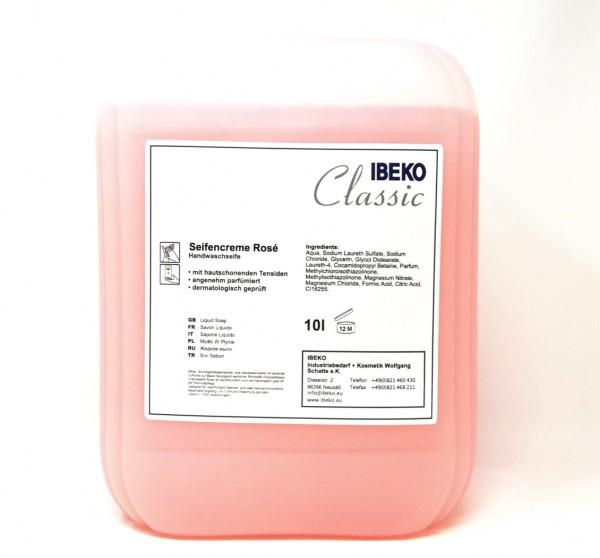 IBEKOClassic Seifencreme Rosé 10L Kanister